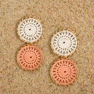 Pennington Crochet Circle Dangle Earrings