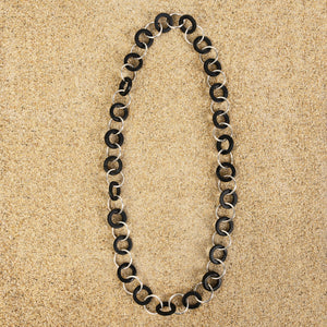 Highlands Black Long Wood Chain Necklace