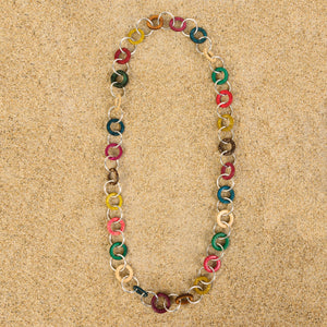 Highlands Rainbow Medium Wood Chain Necklace