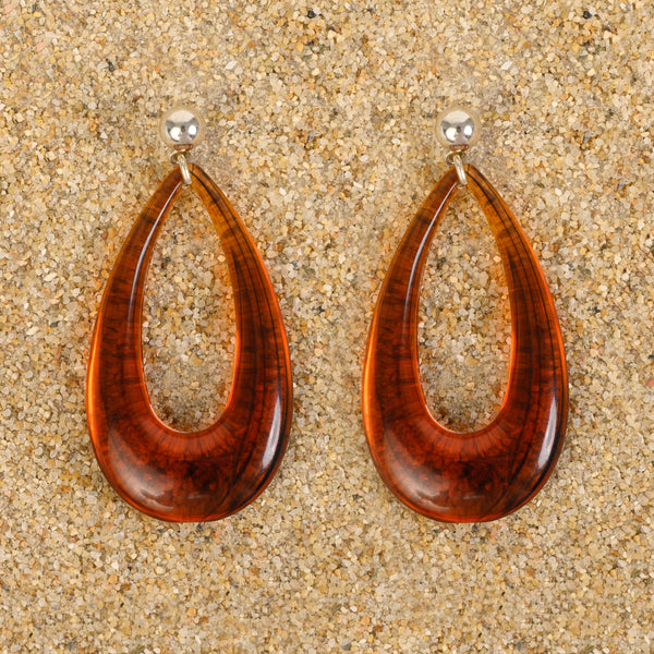 Hamilton Wide Teardrop Resin Earrings