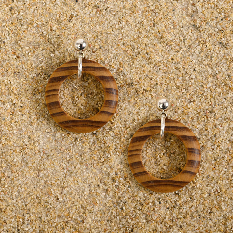 Avon Burlywood Circle Post Earrings