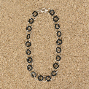 Highlands Black Short Wood Chain Necklace