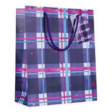 Load image into Gallery viewer, Blaeberry Tartan Medium Gift Bag (SIGB02TAR)