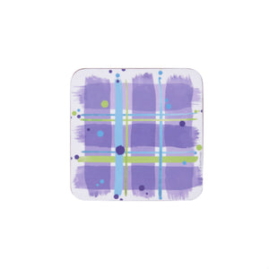 Bramble Tartan Patch Coasters set of 2 (SICO34SET2)