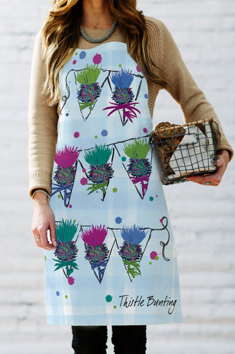 Scottish Thistle Bunting Apron (SI-A-TB)