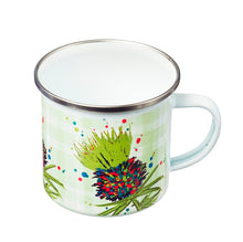 Load image into Gallery viewer, Thistle Enamel Mug Green (SI-EM-G)