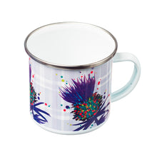 Load image into Gallery viewer, Thistle Enamel Mug Blue (SI-EM-B)