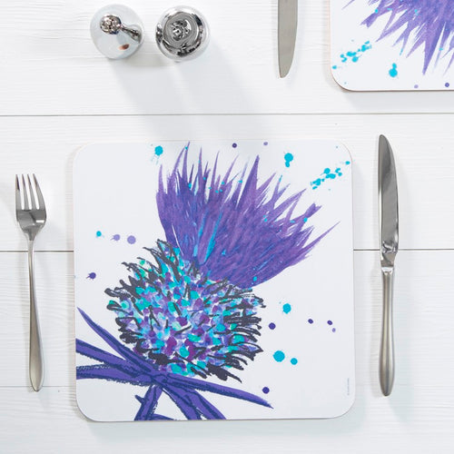 Bramble Thistle Table Mat set of 4 Purple (SITM09SET)