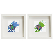 Load image into Gallery viewer, Framed Thistle Art Prints set of 2 Purple/Pink (SI-FSP-T-SET2-P/PI)
