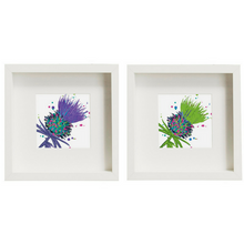 Load image into Gallery viewer, Framed Thistle Art Prints set of 2 Purple/Green (SI-FSP-T-SET2-P/G)