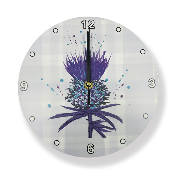 Bramble Thistle Wooden Wall Clock (SICLOBT)
