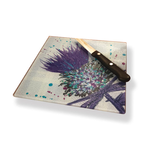 Bramble Thistle Glass Chopping Board (S IPOTBT