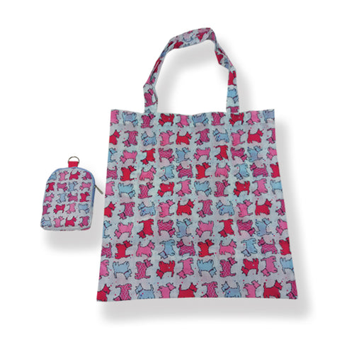 Scottie Dog Folding shopper bag (SIT45SD)