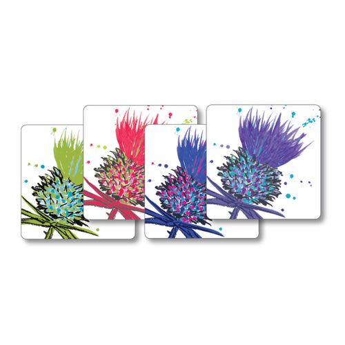 Bramble Thistle Tablemats set 4 Mixed Colours (SITM10SET)