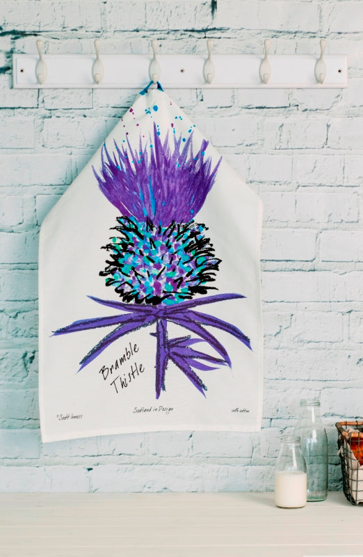 Bramble Thistle Tea Towel (SI-TT-BT)