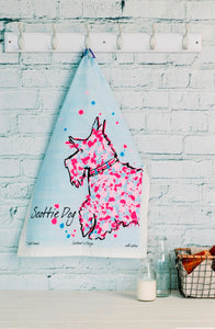 Scottie Dog Tea Towel (SI-TT-SD)