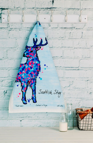 Scottish Stag Tea Towel (SI-TT-SS)