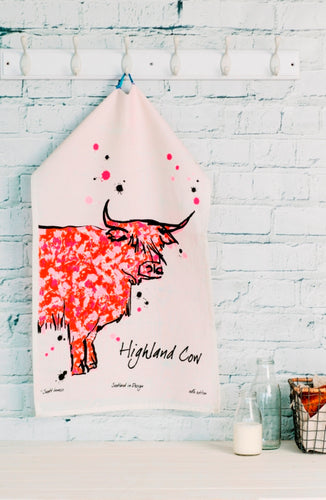Highland Cow Tea Towel (SI-TT-HC)
