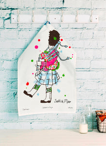 Scottish Piper Tea Towel (SI-TT-SP)