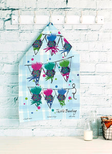 Thistle Bunting Tea Towel (SI-TT-TB)