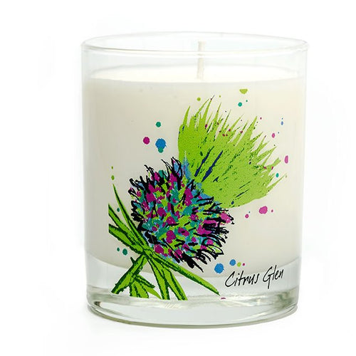 Luxury Green Thistle Scented Candle - Citrus Glen (SI-C-T-G)