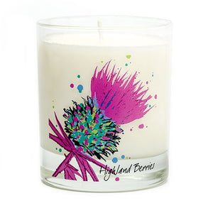 Luxury Pink Thistle Scented Candle - Highland Berries (SI-C-T-PI)
