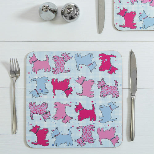 Scottie Dog Repeat Table Mats set of 2 (SITM32SET2)