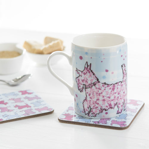 Scottie Dog Repeat Coasters set of 2 (SICO32SET2)