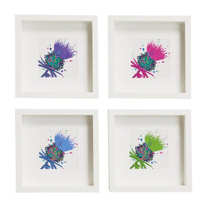 Framed Thistle Art Prints set of 2 Purple/Green (SI-FSP-T-SET2-P/G)
