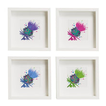 Load image into Gallery viewer, Framed Thistle Art Print Purple (SI-FSP-T-P)