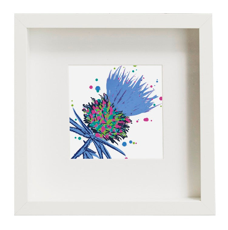 Thistle Art Print Blue unframed (SI-SP-T-B)