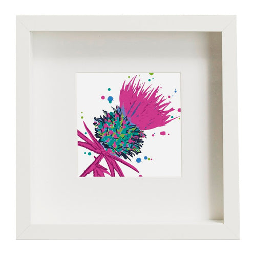 Framed Thistle Art Print Pink (SI-FSP-T-PI)