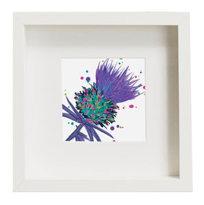 Framed Thistle Art Print Purple (SI-FSP-T-P)