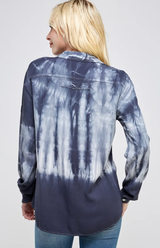 Bamboo Tie Dye Button Down Blouse