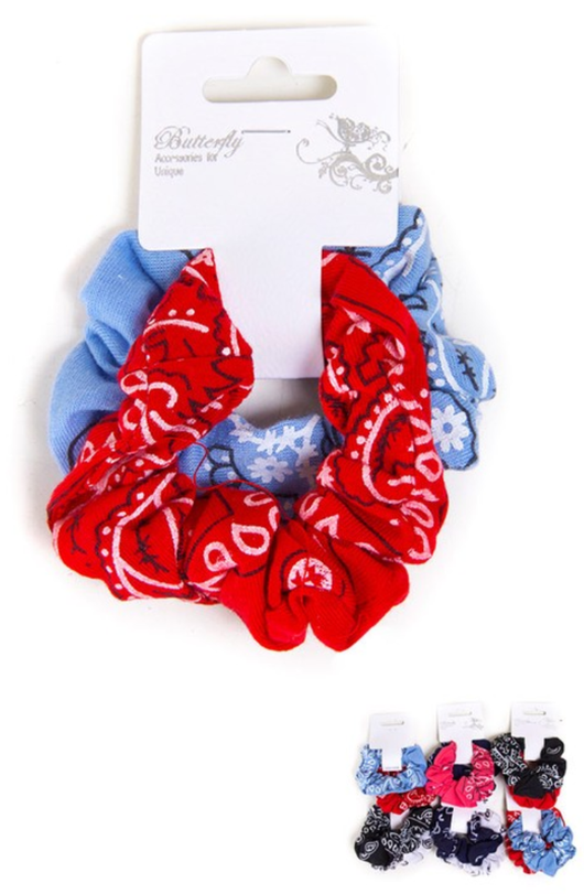 Bandana Scrunchie Set Hair Ties