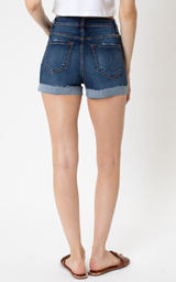 High Rise Button Fly Shorts