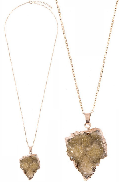 Druzy Cluster Long Necklace