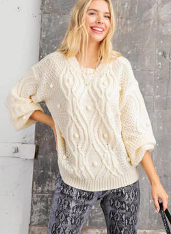 Pom Pom Oversized Sweater