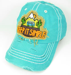 Keep It Simple Distressed Hat