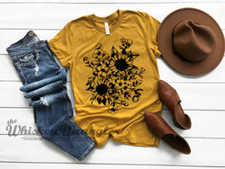 Wild Child Sunflower Tee