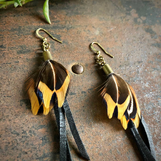 Roadhouse Mini Feather Earrings