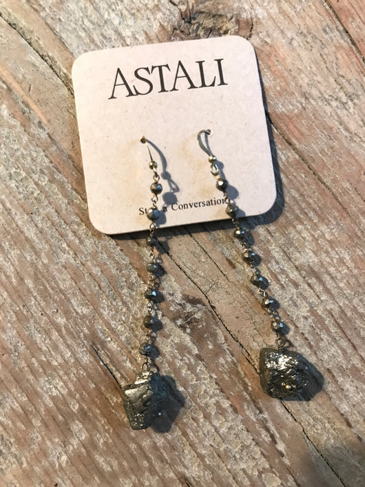 Astali Pyrite Earrings
