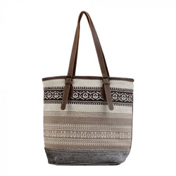 Beige Tribal Pattern Tote Bag