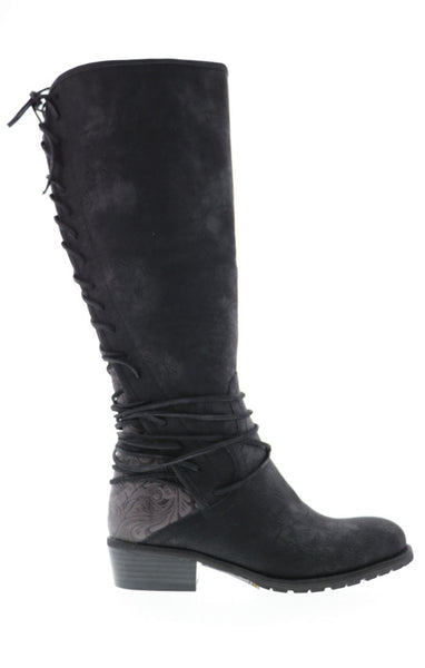 Amorita Lace Up Tooled Leather Boot