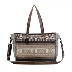 Tribal Print Weekender Bag