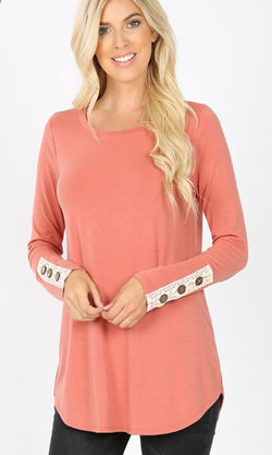 Claire Button Long Sleeve Blouse
