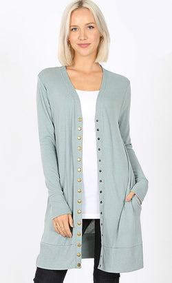 Snap Button Cardigan