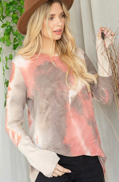 Tie Dye Scoop Neck Top