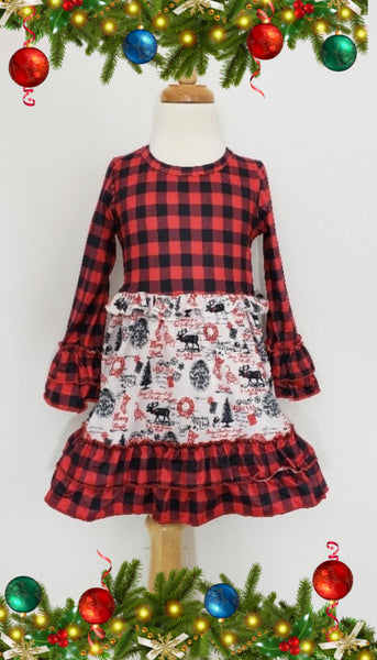 Little Girls Vintage Christmas Dress