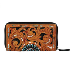 Bellezza Hand Tooled Wallet